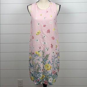 Ann Taylor Loft Pink Floral Print Dress